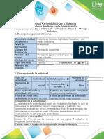 Guía de actividades y rúbrica de evaluación - Paso 5 -  Manejo de lodos.