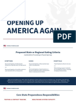 White House Guidelines for Reopening Economy