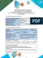 Guía de actividades y rúbrica de evaluación - Tarea 2 - Realizar trabajo de los principios generales de farmacología.