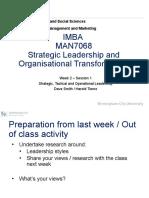 MAN7068 Week 2 Session 1-Strategic, Tactical  Operational Leadership