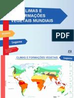 Climas e formações vegetais mundiais