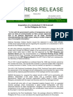 DND-OPA - Statement - Acquisition of C-130 - 20 December 2010