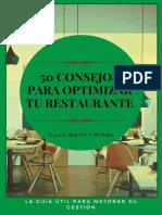 50 consejos para optimizar tu restaurante La guía útil para