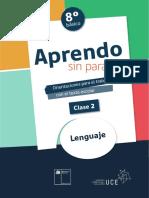 unidad 1, clase 2 Lengua y Literatura 8