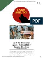 COLECTIVO SITUACIONES-Los efectos del diciembre argentino
