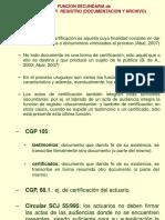 Funciones secundarias de certificación y registro -documentación y archivo Biurrun 2018