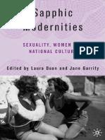 Jane Garrity, Laura Doan - Sapphic Modernities_ Sexuality, Women and National Culture (2006)