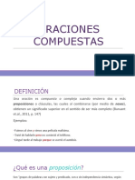 oraciones compuestas (COMPARATIVE LINGUISTIC)