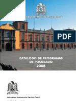 Catalogo de Programas de Posgrado 2008