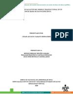 SOCIALIZACIÓN Y EVALUACIÓN DEL MODELO TRANSACCIONAL EN UN MOTOR DE BASES DE DATOS ESPECÍFICO.
