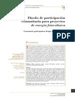 Diseño de participación comunitaria para proyectos  de energia fotovoltaica