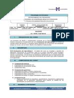 E114 Evaluación del aprendizaje I