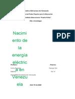 Cómo nace la energía eléctrica en Venezuela