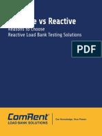 Resistive vs Reactive - Reason to Choose Reactive Load Bank Testing Solustions [ComRent]
