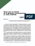 Geografía y su historicidad nacional