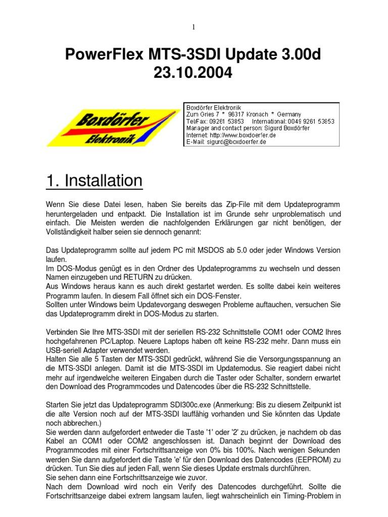 Boxdörfer Powerflex MTS-SDI Update 3.00d