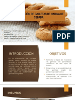 Elaboración de galletas de harina de cebada