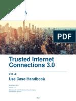 Draft TIC 3.0 Vol. 4 Use Case Handbook