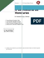 Examen de Historia de Honduras