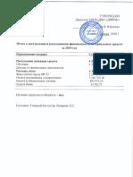 Отчет О поступлении и расходовании финансовых и материальных средств_2019