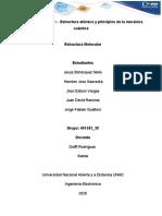"""""""Unidad 1 Tarea 1 – Estructura atómica y principios de la mecánica cuántica"""