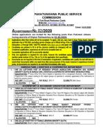 KHYBER PAKHTUNKHWA PUBLIC SERVICE COMMISSION Advertisement
