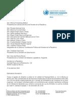 Carta ONU Al Senado Mexicano 16 Abril 2020