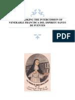Novena for Favor Ven Francisca