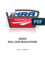 SEDAN ROLL CAGE REGULATIONS
