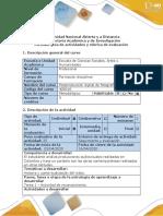 Guía de actividades y Rúbrica de evaluación - Tarea 1 - Actividad de reconocimiento