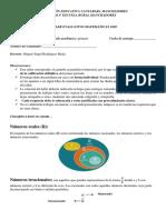 Taller evaluativo matemáticas 8-9 INECAM IPA2020 Miguel Rodriguez