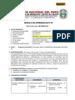 MÓDULO DE APRENDIZAJE N° 4 - 4to.