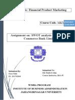 SWOT Analysis of Bangladesh Commerce Bank