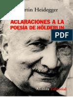 Heidegger - Aclaraciones a la poesía de Holderlin