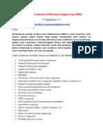 International Journal of Microwave Engineering (IJME)