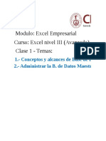Clase 1 - Excel III - Creación de Tabla Movimiento