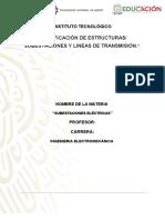 Clasificación de Estructuras Subestaciones y Lineas de Transmisión.