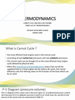 THERMODYNAMICS (CARNOT CYCLE AND 3RD LAW)