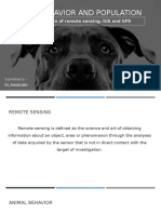 Remote Sensing in animal behavior