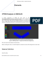 XFEM Analysis in ABAQUS – Simplified Finite Elements