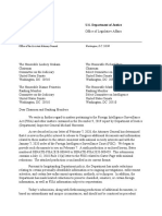 DOJ Justification Letter to FISC in July 2018