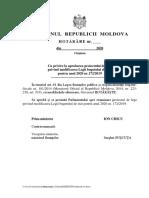 Proiectul cu privire la aprobarea proiectului de lege privind modificarea Legii bugetului de stat pentru anul 2020 nr.172/2019
