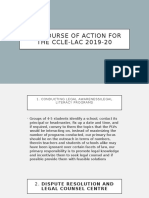 The course of action for the Ccle-lac 2019-20