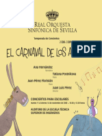 Programa de mano CARNAVAL DE LOS ANIMALES