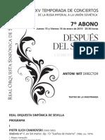 006 TEMPORADA 14-15 Programa De Mano 7º Abono ROSS 14-15