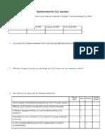 CLIL Questionnaire