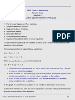 CBCE Class X Maths Chap 3 - Pair Of linear Equations In Two Variables - Notes-PANTOMATH.pdf
