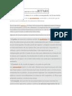 DEFINICIÓN DE RITMO