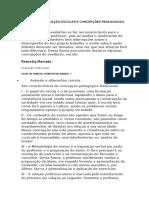 AVALIAÇÃO – AVALIAÇÃO ESCOLAR E CONCEPÇÕES PEDAGÓGICAS DE ENSINO