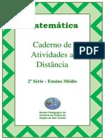 Caderno de atividades de matemática a distância - 2º ano ensino médio